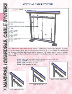 Stainless Steel Vertical Cable Railing System VC1-2000