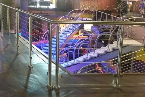 Stainless Steel Cable and Glass Railing System SPG1-2000