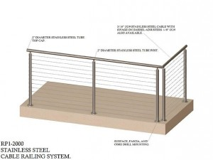 Stainless Steel Cable Railing System RP1-2000